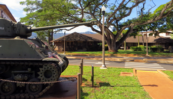 Sherman Tank in Front of Tropic Lightning Museum, Schofield Barracks