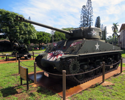 Sherman Tank and Vulcan Air Defense System at Tropic Lightning Museum