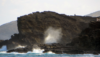 Spectators at Halona Blowhole Lookout