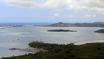 Windward Oahu Scenic Drive: Heeia Kea Pier, Heeia State Park & Heeia Fish Pond (Seen from Puu Maelieli)