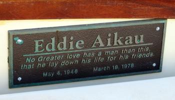 Eddie Aikau Memorial Plaque Aboard Hokule'a
