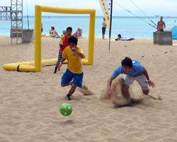 Sand Soccer at Duke's Oceanfest on Waikiki Beach