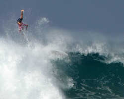 Unidentified Surfer Hits the Eject Button at Billabong Pipe Masters, Triple Crown of Surfing