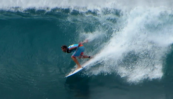 Mitch Crews Drops in on a Backdoor Tube at the Billabong Pipe Masters Triple Crown of Surfing