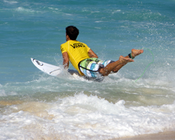 Bino Lopes Paddles Out for a Heat in the 2013 World Cup of Surfing, Vans Triple Crown of Surfing