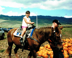 Horseback Rides at Aloun Farms Pumpkin Patch