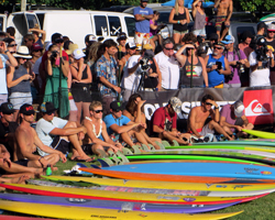 Invitees at the Quicksilver in Memory of Eddie Aikau Big Wave Invitational Opening Ceremony