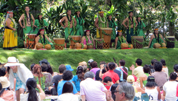 Ground Seating in Front of Moanalua Gardens Hula Mound at Prince Lot Hula Festival