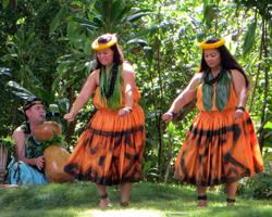 Dancers with Kumu Hula at Prince Lot Hula Festival