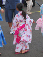 Girl in Kimono at a Hawaii Bon Dance