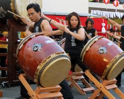 Taiko Drummers at a Hawaii Bon Dance