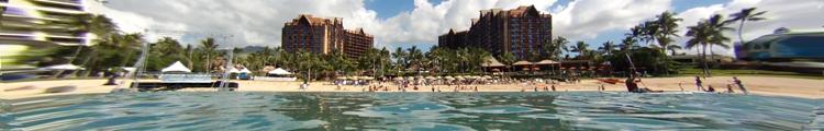 Disney Aulani Resort as Seen from Ko Olina Lagoon