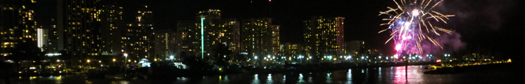 Waikiki Fireworks at Magic Island