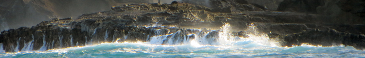 Wave Action Causes Spouting Water at Halona Blowhole