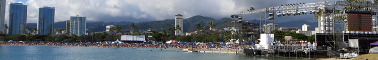 Lantern Floating Hawaii Stage and Crowd