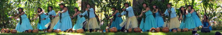 Dancers at Prince Lot Hula Festival