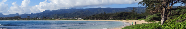 Windward Oahu Scenic Drive: Coastline Seen from Malaekahana Beach