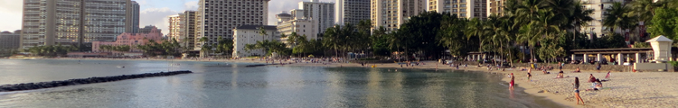 Waikiki Beach Hotels at Sunset