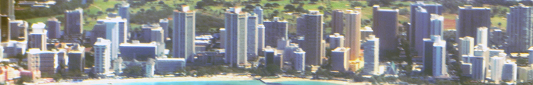 Central and Southeast Waikiki Hotels (Seen from a Hawaiian Airlines Flight to Maui)