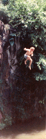 Me Jumping Off the Rock at Kapena Falls