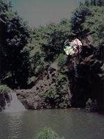 My Brother Jumping Off the Rock at Kapena Falls