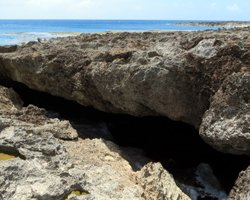 Cave Entrance to Underwater Lava Tubes at Sharks Cove Hawaii