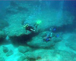 Scuba Divers at Sharks Cove Hawaii