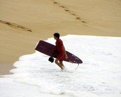 Broken Surfboard from Big Waves at Waimea Bay
