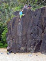 Rock Climbing at Waimea Bay