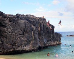 The Jumping Rock at Waimea Bay