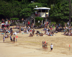 Hazard Warnings at Waimea Bay