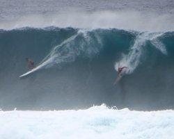 Big Surf at Waimea Bay