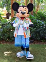 Hawaiian Mickey Mouse at Disney Aulani Resort