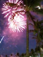 Waikiki Fireworks2 at Hilton Lagoon
