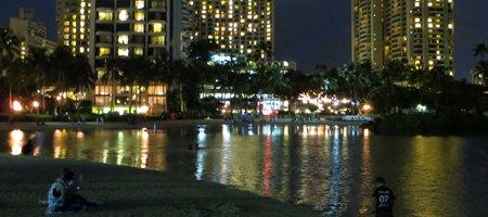 Hilton Lagoon Night