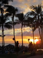 Torch Lighting Ceremony & Free Hula Show Sunset