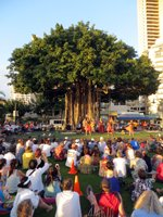 Torch Lighting Ceremony & Free Hula Show at Kuhio Beach Hula Stage
