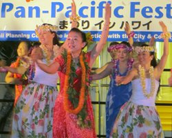 Hula at the Pan Pacific Festival