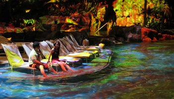 Front-Row Seats for Helumoa 3-D Mapping Pool Light Show