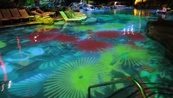 Helumoa 3-D Mapping Pool Light Show at Sheraton Waikiki Hotel