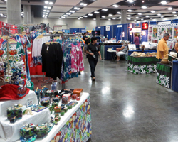 Honolulu Festival Vendor Booths at the Hawaii Convention Center