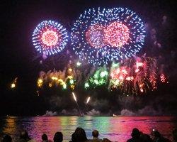 A Fireworks Show Ends the Honolulu Festival