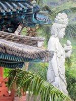 The Bell Tower and Statue at Mu-Ryang-Sa