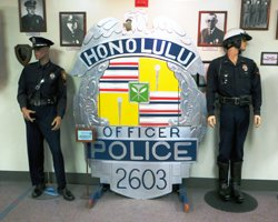 Shield Display at the Honolulu Police Museum
