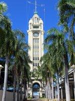 Palm Lined Walkway to Aloha Tower