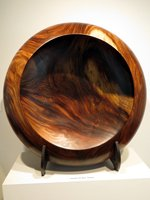 Giant Handcrafted Wooden Bowl at Hawaii State Art Museum