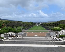 View of Punchbowl Crater from the National Memorial