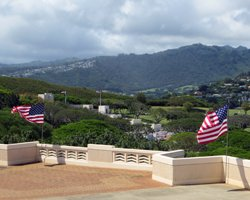 National Cemetery at Punchbowl Crater Rim on Memorial Day