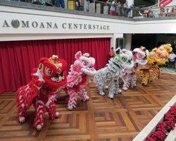 Honolulu Entertainment: Chinese Lion Dance at Ala Moana Center Stage