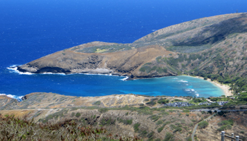 View of Hanauma Bay from Koko Crater